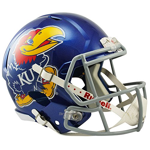 Riddell Kansas Jayhawks Officially Licensed NCAA Speed Full Size Replica Football Helmet