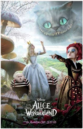 Alice in Wonderland - Tim Burton Mia Wasikowska- Disney 11x17 Poster