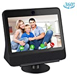 Caremoo Adjustable Stand for Facebook Portal, Metal Stand Compatible with Facebook Portal [Gen 1] 360 Degree Rotatable, Tilt The Viewing Angle, Anti-Slip Base, Black
