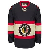 Chicago Blackhawks CCM Reebok NHL Vintage Premier Black Jersey
