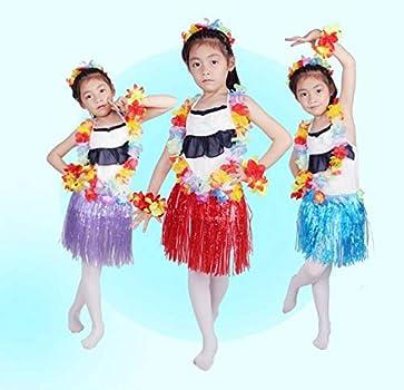 JUNGEN Falda de Hierba de Hula de Niños Falda de Hierba Hawaiana ...