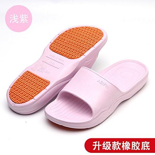 DogHaccd anti pantofole di uomini pantofole Home raffreddare spessore pantofole donne chiaro3 slittamento per casa bagno indoor Viola estate soft coppie bagno pantofole piano rUYqr