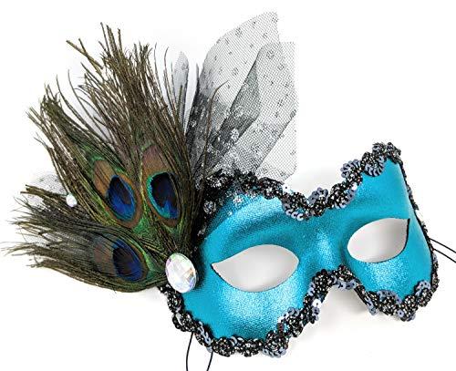 Success Creations USA Mariko Masquerade Mask for Women Teal