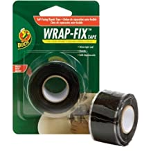 "Duck 442055 Wrap-Fix Repair Tape, 1"" by 10', Single Roll, Black"