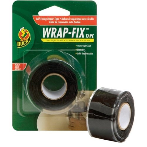 Duck Brand 442055 Wrap-Fix Repair Tape, 1-Inch by 10 Feet, Single Roll, Black (Repair Plumbing)