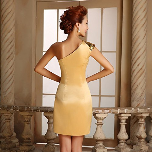 Drasawee Schlauch Kleid Gold Schlauch Drasawee Kleid Damen Damen Gold Drasawee Damen rzwBpr8aqA