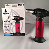 Blink MB04 RedChef Culinary Micro Butane Torch | Refillable Cooking Kitchen Blow Torch With Safety Lock & Adjustable Flame |