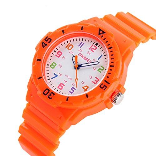 Kids 50M Waterproof Watch,PU Band Wrist Watch for Boys Girls