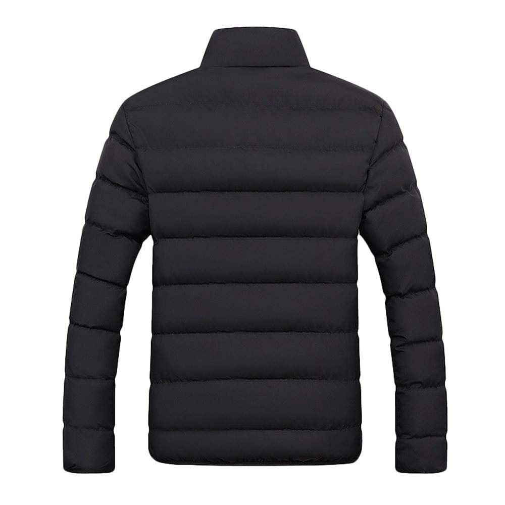 TAGGMY Jackets for Men Winter Warm Plus Size Fashion Zipped Thick Solid Fleece Cotton-Padded Sport Outwear Overcoat 3XL