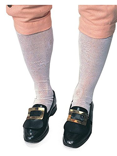 Colonial Knee Socks (White) Adult Accessory (Colonial Costumes For Men)