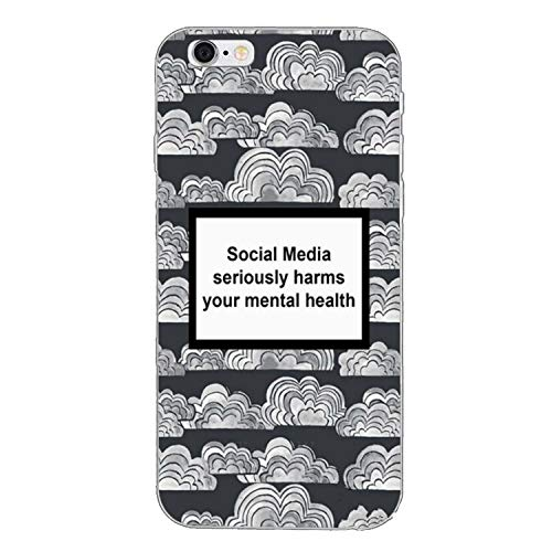 Social Media Seriously Harms Your Mental Health Soft Case for Huawei Mate 20 10 lite pro 9 8 Y9 Y7 Y6 Prime 2018 2019 nova 3i-in Half,mental-health-A-07,for Huawei Mate 20 ()