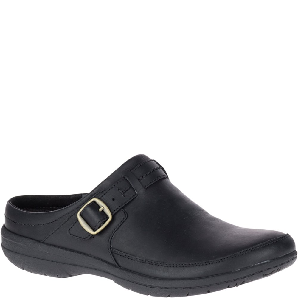 Merrell Women's Encore Kassie Buckle Slide Clog, Black, 9.5 Medium US
