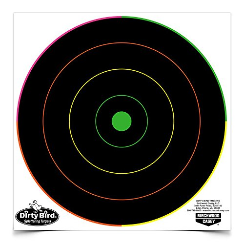 Birchwood Casey Dirty Bird Bullseye Targets, Multicolor ()