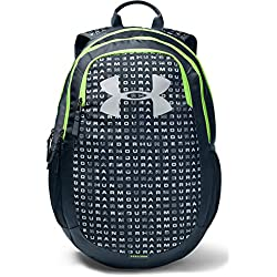 Under Armour unisex-adult Scrimmage Backpack 2.0, Wire (073)/Lime Light, One Size Fits All