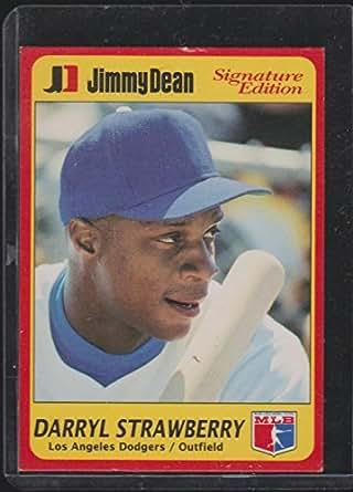 1991 Jimmy Dean Darryl Strawberry Dodgers Baseball Card 5