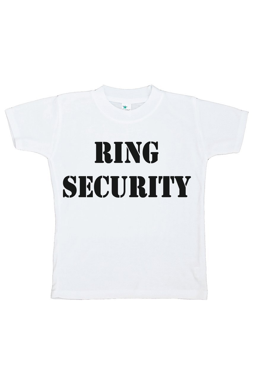 Custom Party Shop Youth Boy's Ring Security Wedding T-shirt XL