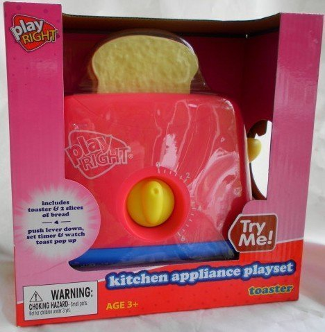 Play Right Kitchen Appliance Playset Toaster (Pretend Toaster Play)