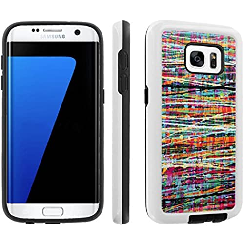 [Galaxy S7] [5.1 Screen] Armor Case [Skinguardz] [White/Black] Shock Absorbent Hybrid - [Multi Paint] for Samsung Galaxy S7 / GS7 Sales