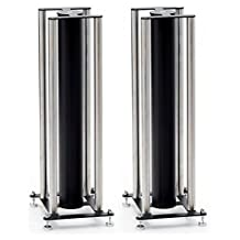 Custom Design FS104 Signature Range Audiophile 24-inch Speaker Stands (Pair, Black/Brushed Chrome)