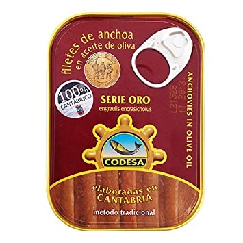 Codesa Anchovy Fillets in Olive Oil - 3 oz (Pack of 4 ...