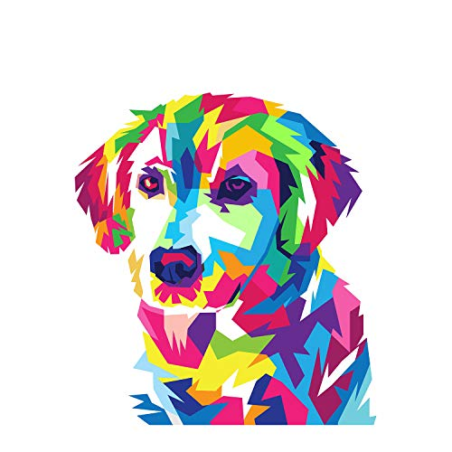 Diamond Painting Kits by Numbers for Adults & Kids & Beginners,5D DIY Round Bead Full Drill Diamond Art,Colorful Dog Paint by Diamonds Embroidery Craft Decor Cross Stitch Kits with Tools(13.8x13.8In)