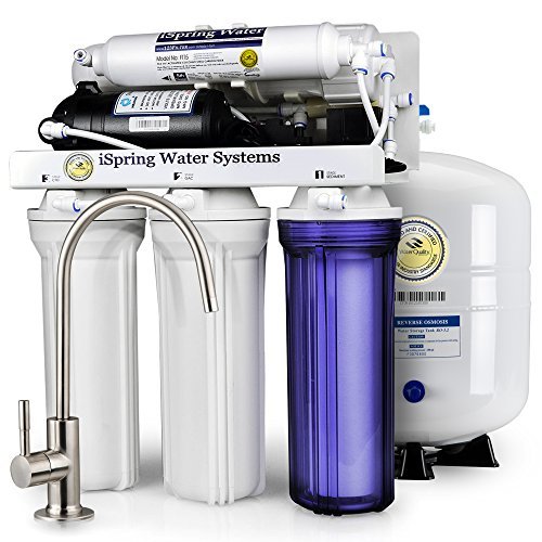 iSpring RCC7P 5-Stage Maximum Performance Reverse Osmosis Drinking Water Filtration System with Booster Pump by iSpring