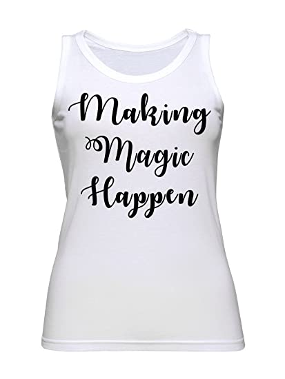graphke Making Magic Happen Slogan Quote Mens Tank Top