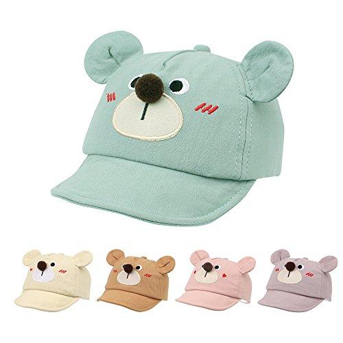 JANGANNSA Baby Duck Cap Infant Kids Sun Hat Bear Cute Cartoon Caps Spring Summer 6-24Months