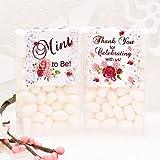 24 Rose Floral Tic Tac Labels, Bridal Shower Tic Tac Stickers, Tic Tac Favors, Mint to Be Favor Labels, Favor Tic Tac Labels