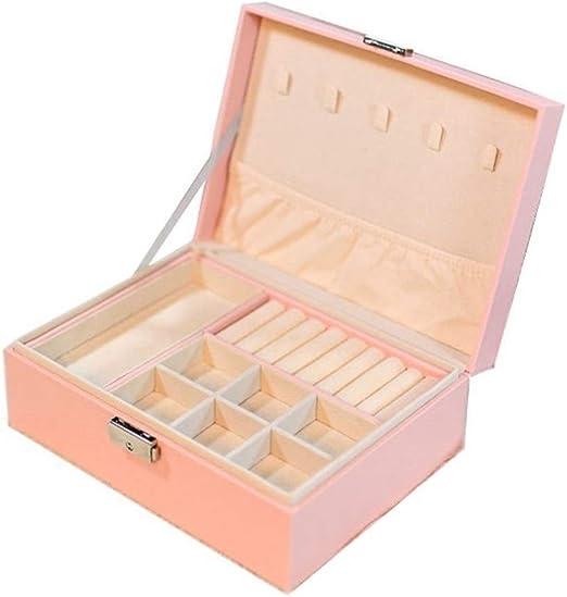 Joyero Joyería de la caja de cuero de las mujeres de empaquetado collar de anillos pendientes