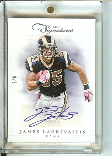 2012 Prime Signature Platinum #103 James Laurinaitis Auto 2/5 Rams by prime