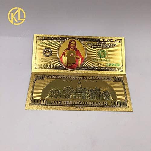 CHENTAOCS 1個Kelin供給防水性と耐久性の24Kゴールドメッキ紙幣USD 100ドルの貴重なお土産ギフトマネー 使い