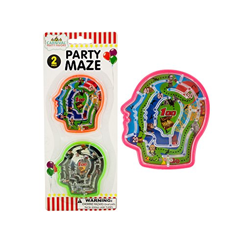 123-Wholesale - Set of 36 Halloween Party Brain Mazes - Party Supplies Party Games ()