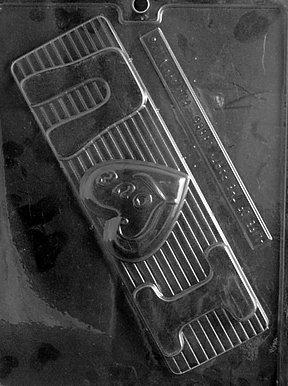 Cybrtrayd V120 I Luv U Plaque Valentine Chocolate Candy Mold