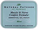 Natural Patches of Vermont Muscle and Nerve Comfort Essential Oil Body Patches, Mint, 2.6 Ounce