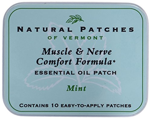 Natural Patches of Vermont Muscle & Nerve Comfort Essential Oil Body Patches, Mint, 10-Count Tin ()