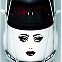 Vehicle Auto Car Décor Vinyl Decal Art Sticker Beautiful Woman Face Removable Design for Hood 1158