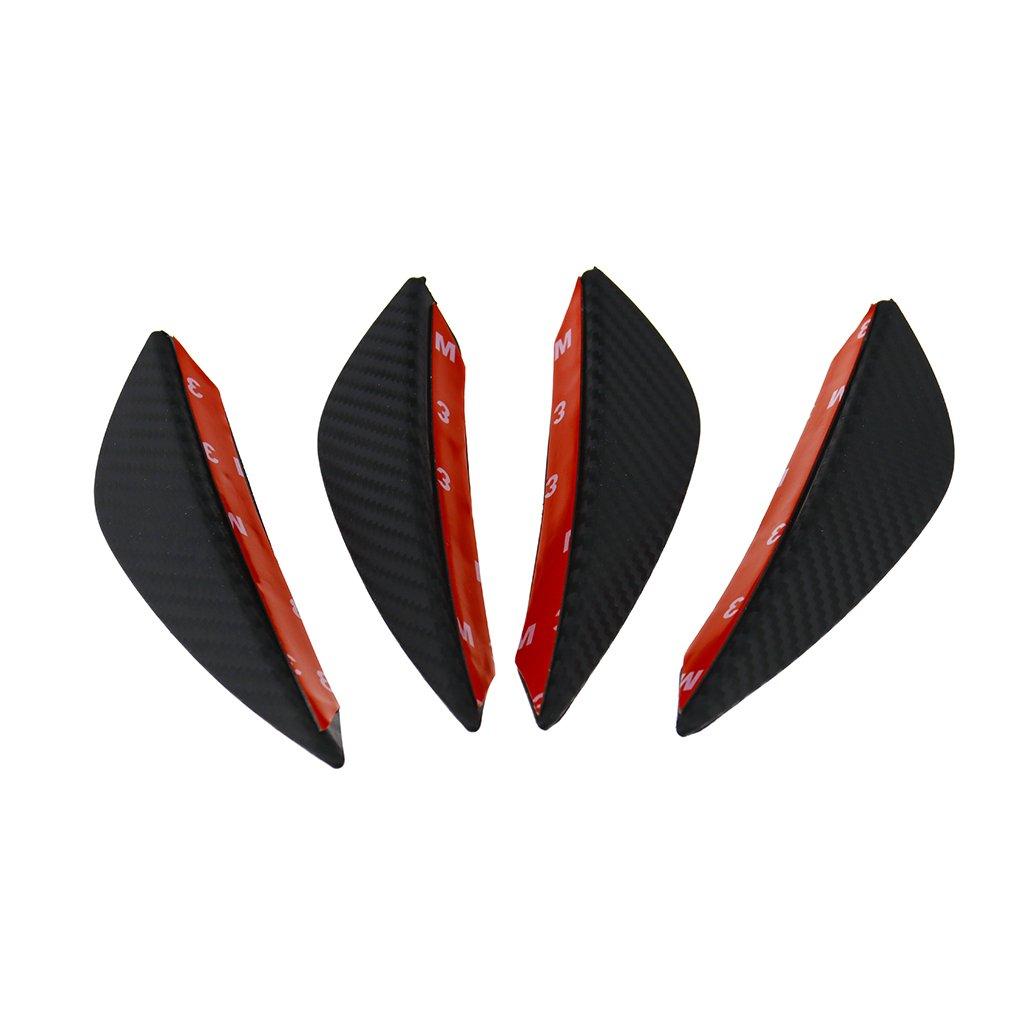 Juego de 4 aletas canard divisorias para el parachoques delantero del coche, con diseñ o de insignia con diseño de insignia Emma
