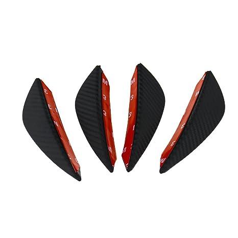 Juego de 4 aletas canard divisorias para el parachoques delantero del coche, con diseño de