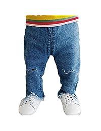 PAUBOLI Ripped Jeans Baby Girl Irregular Cuts Fashion Denim Pants 3-36 Months