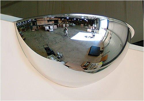 180 Mirror (Se-Kure Domes & Mirrors ONV-180-18 Half Dome Mirror, 18