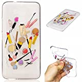Qiaogle Phone Case - Soft TPU Silicone Case Cover Back Skin for Asus Zenfone 3 Max ZC520TL (5.2 inch) - HC10 / Lip gloss + eyebrow pencil