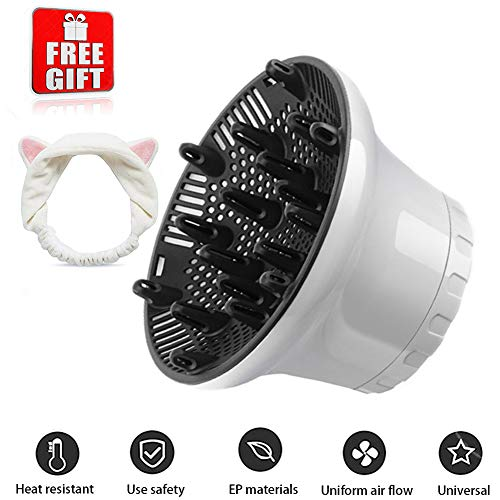 - Universal Hair Diffuser Hair Dryer Diffuser Attachment For Curly Wave Thick and Nature Hair Profession Blow Dryer Diffuser Attachment Use Honeycomb Element Adjustable to 1.4-2.6 inch for Dryer Nozzle