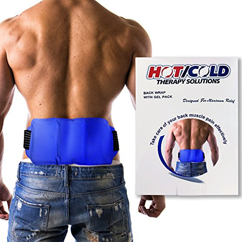 Hot / Cold Therapy Back Wrap - CE CERTIFIED & FDA APPROVED. Relieve Soreness + Decrease Swelling. Hot And Cold Pack For Back PLUS Adjustable Wrap. Can Be Worn Under Back Brace Or Support Belt. Cold Back Wrap