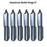 Lot 3 Pair 5'' Aluminum Hinge for Weld Body Bullet Stainless Steel Bushing & Pin