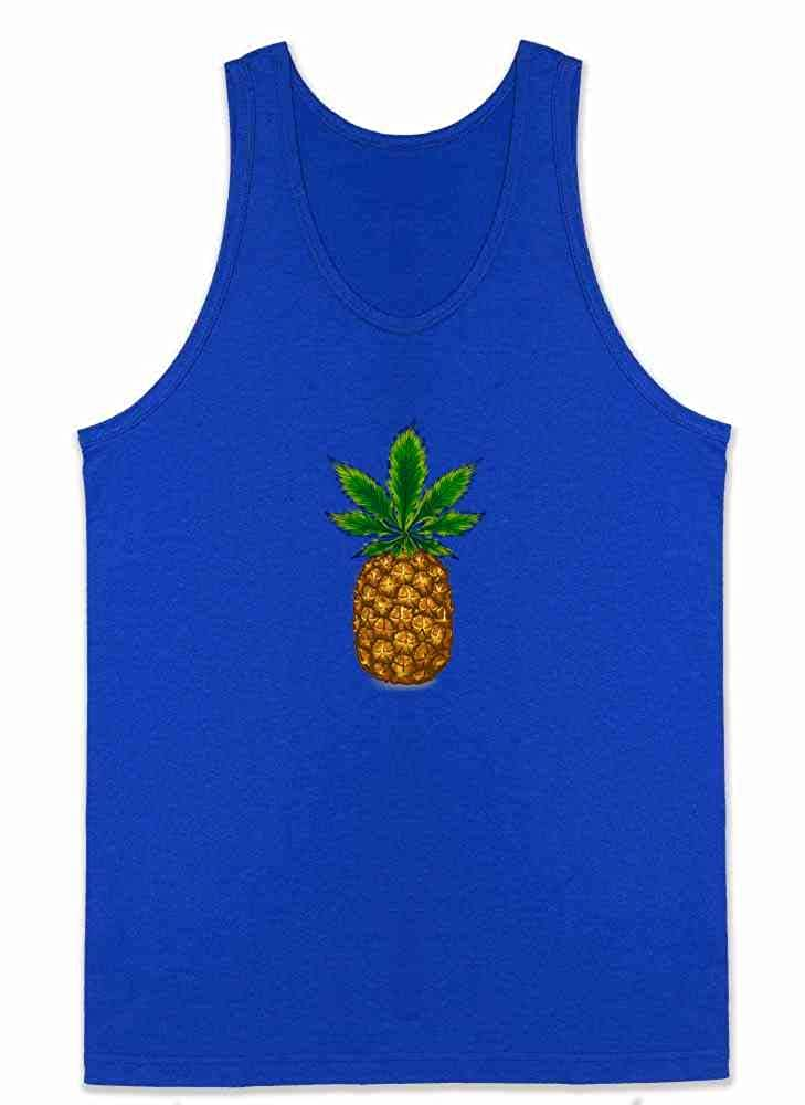 Pineapple Kush Marijuana Weed Leaf 420 Cannabis Sleeveless Shirt Tank Top Mens
