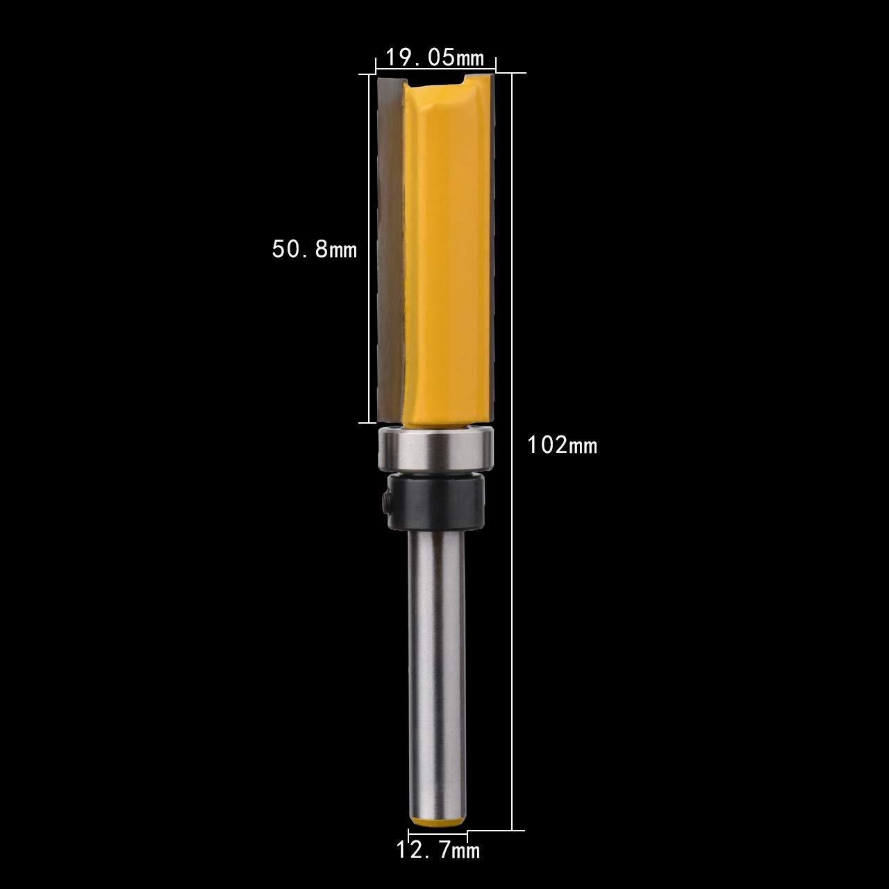 20 mm Höhe x 12,7 mm Durchmesser Bündiger Fräser   6,35 mm Schaft