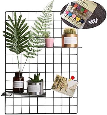 Amazon Pulatree Grid Photo WallSet Of 2 Panel Decorative Iron Rack Clip Photograph Wall Hanging Picture Ins Art Display PhotoWall Packs