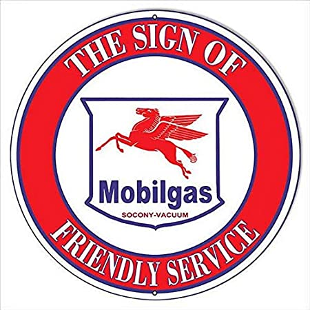 Mobilgas Oil Metal Filler Jug Classic Reproduction Car Garage Shed Workshop