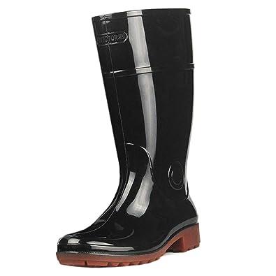 Tenthree Retro Antideslizante Goma Impermeable Botas de Agua Hombre - Invierno Nieve Lluvia Wellington Boots Trabajo Pesca: Amazon.es: Zapatos y ...